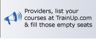 Training Providers, list your courses at TrainUp.com